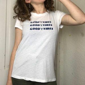 Brandy Melville Good Vibes T Shirt